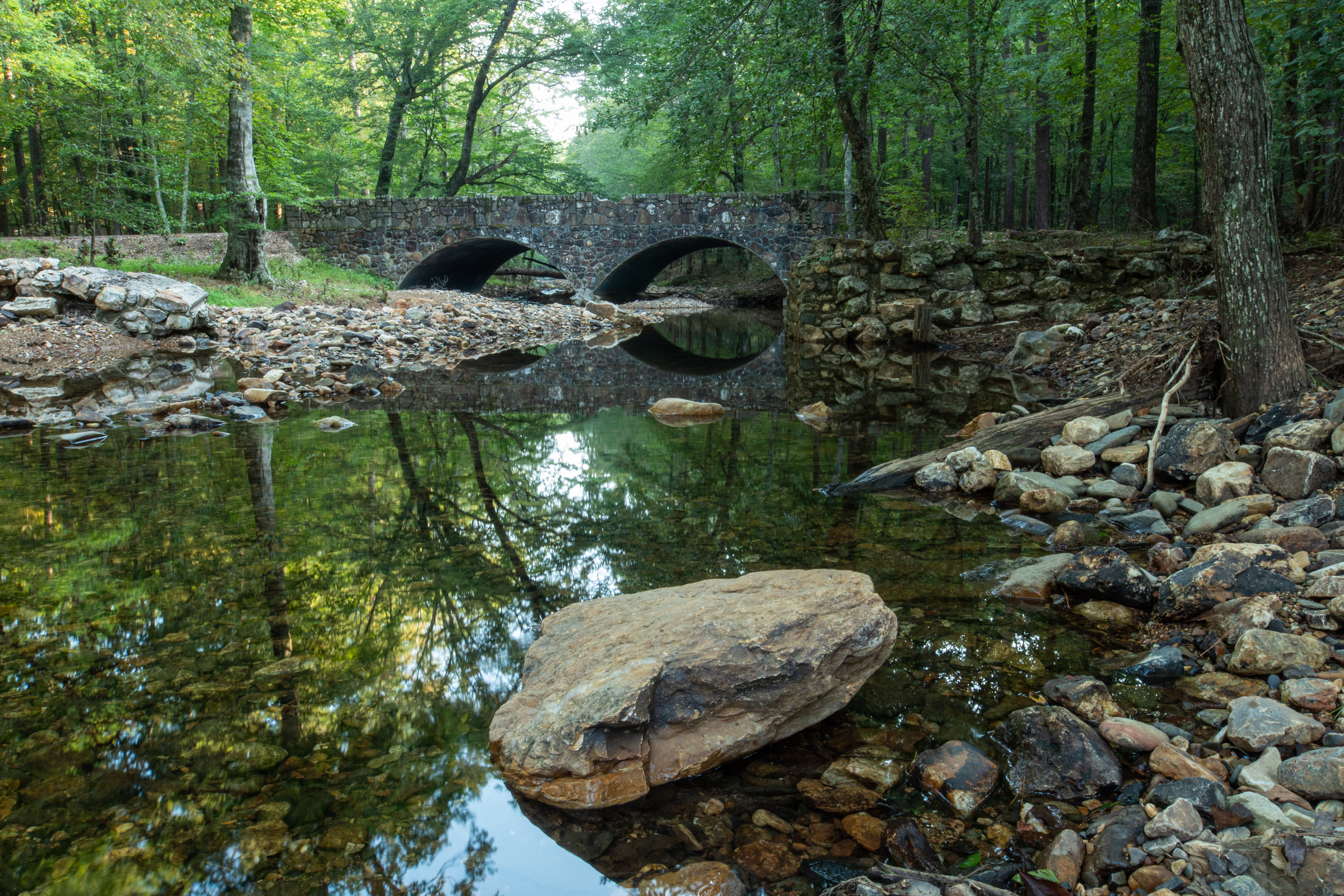One of the neat CCC bridges at Shady Lake Campground