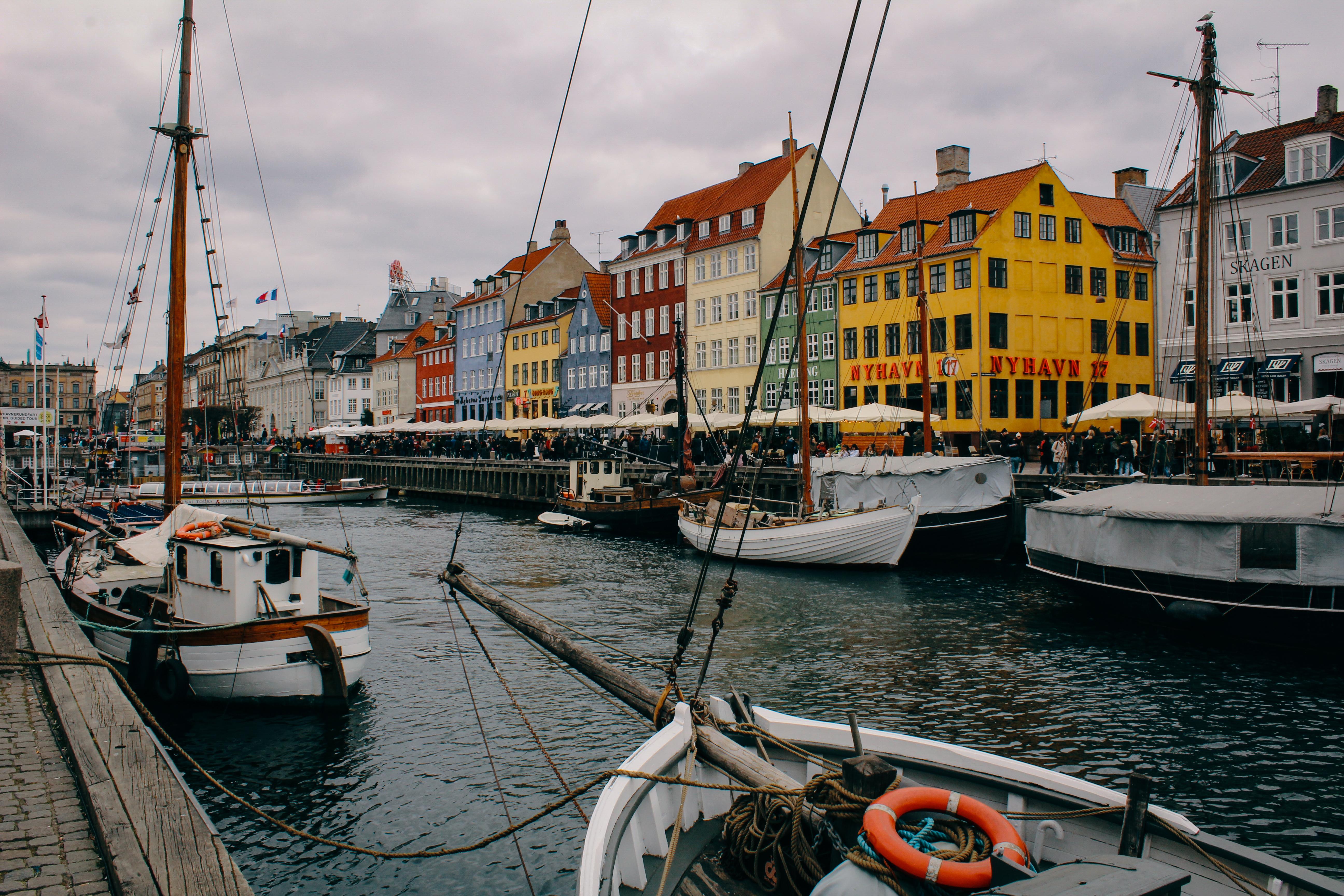 A cloudy day in Nyhavn, Copenhagen