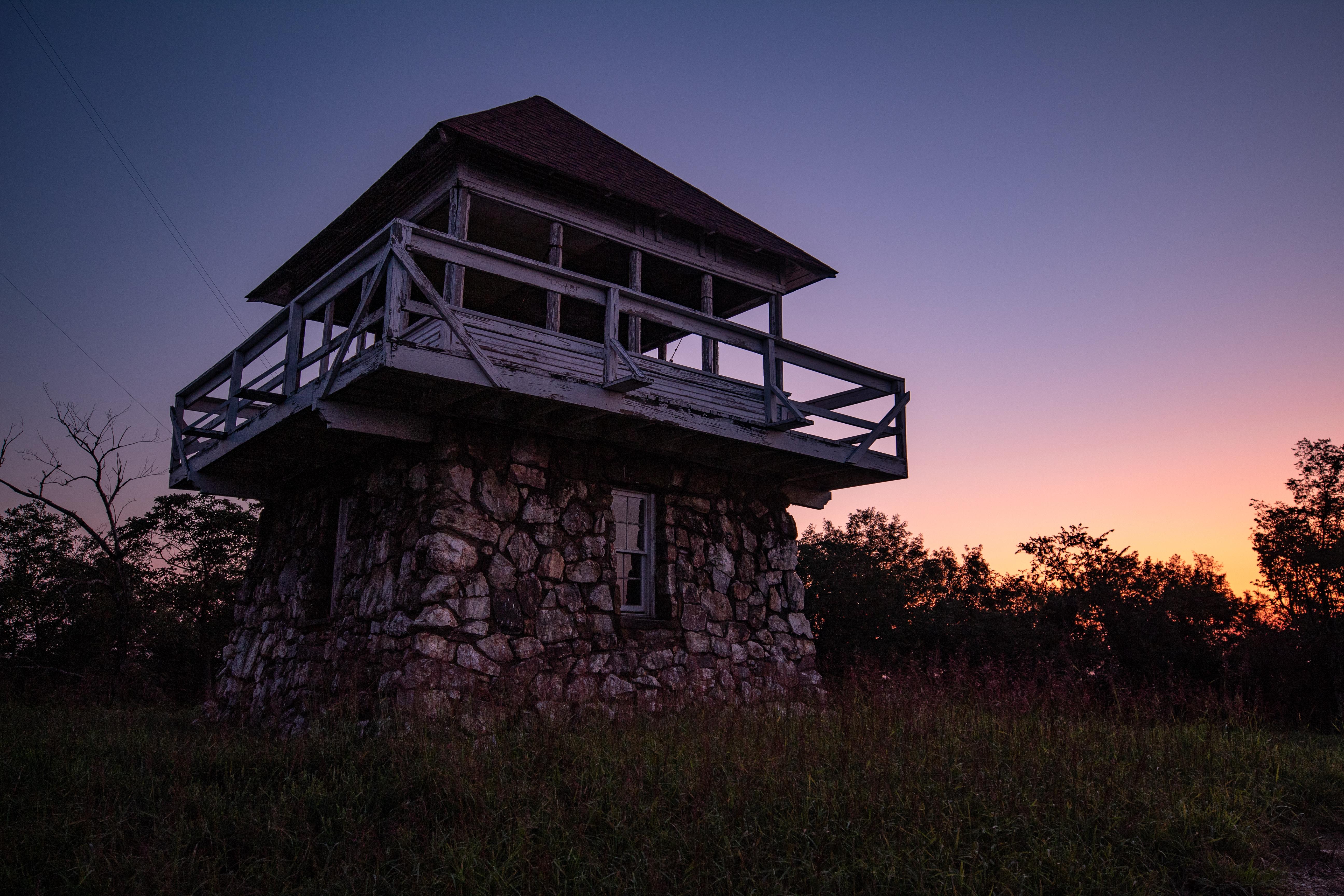 Tall Peak Tower at sunrise