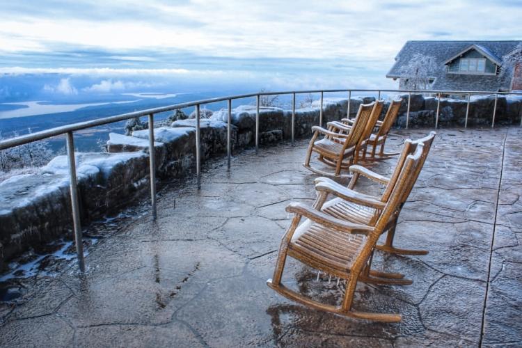An icy scene on Mount Magazine