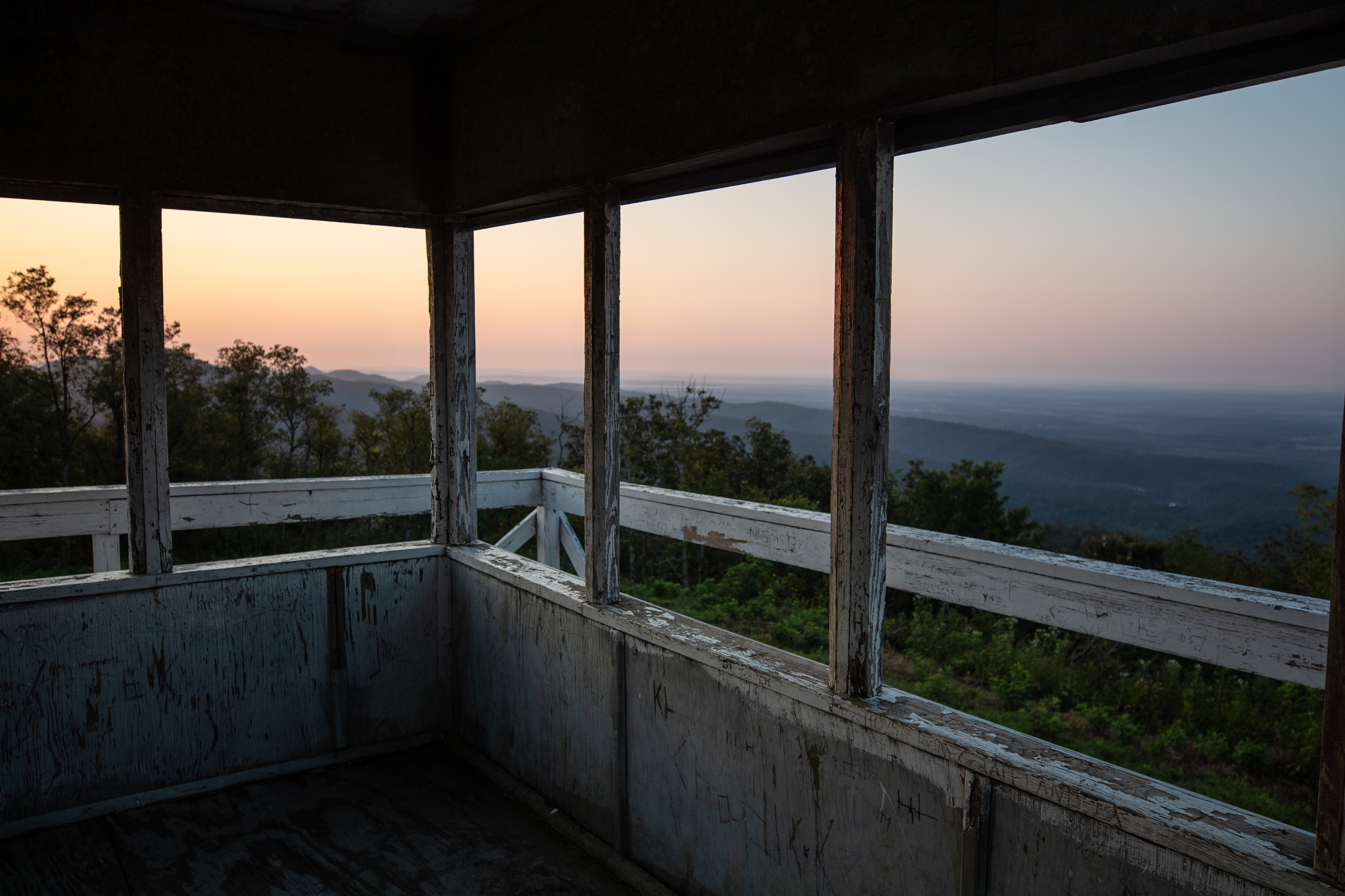 Sunrise view from the fire tower