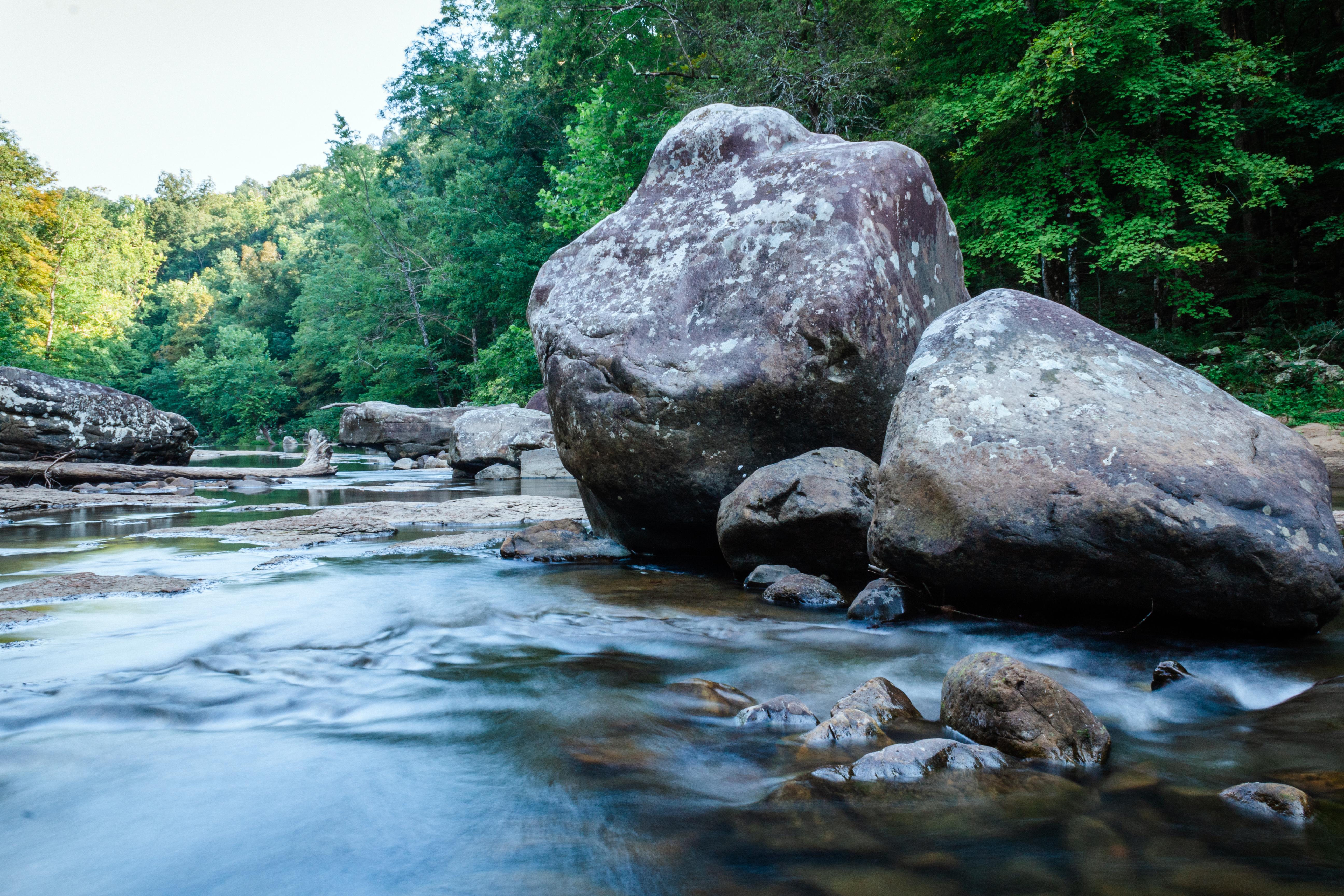 Boulders in Richland Creek Arkansas