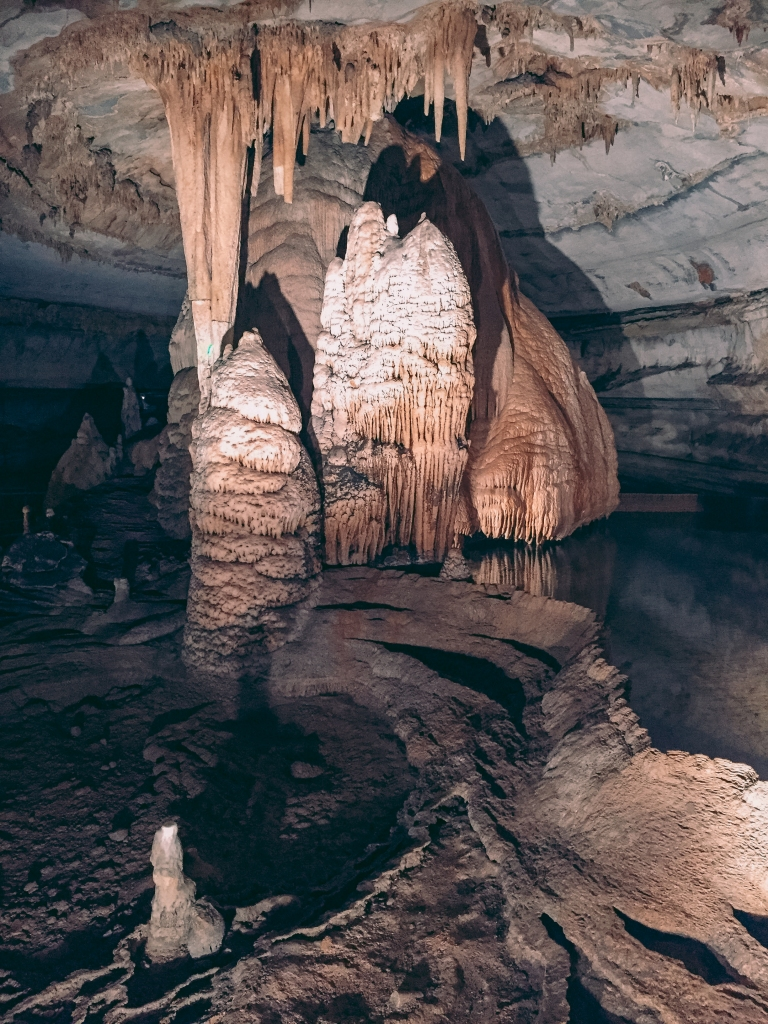 Cave formations and underground pools