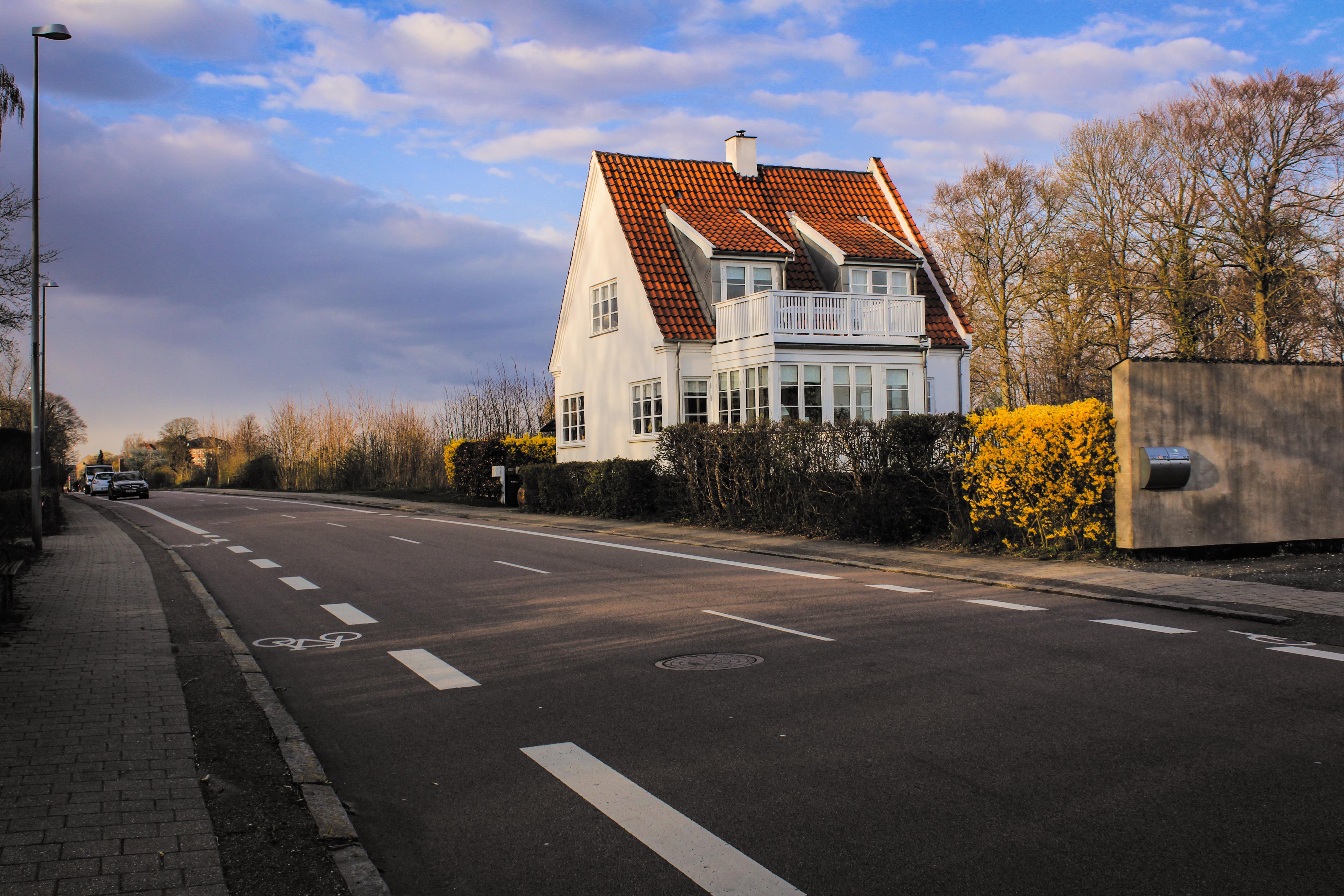 Golden hour in Helsingor, Denmark, Scandinavian architecture