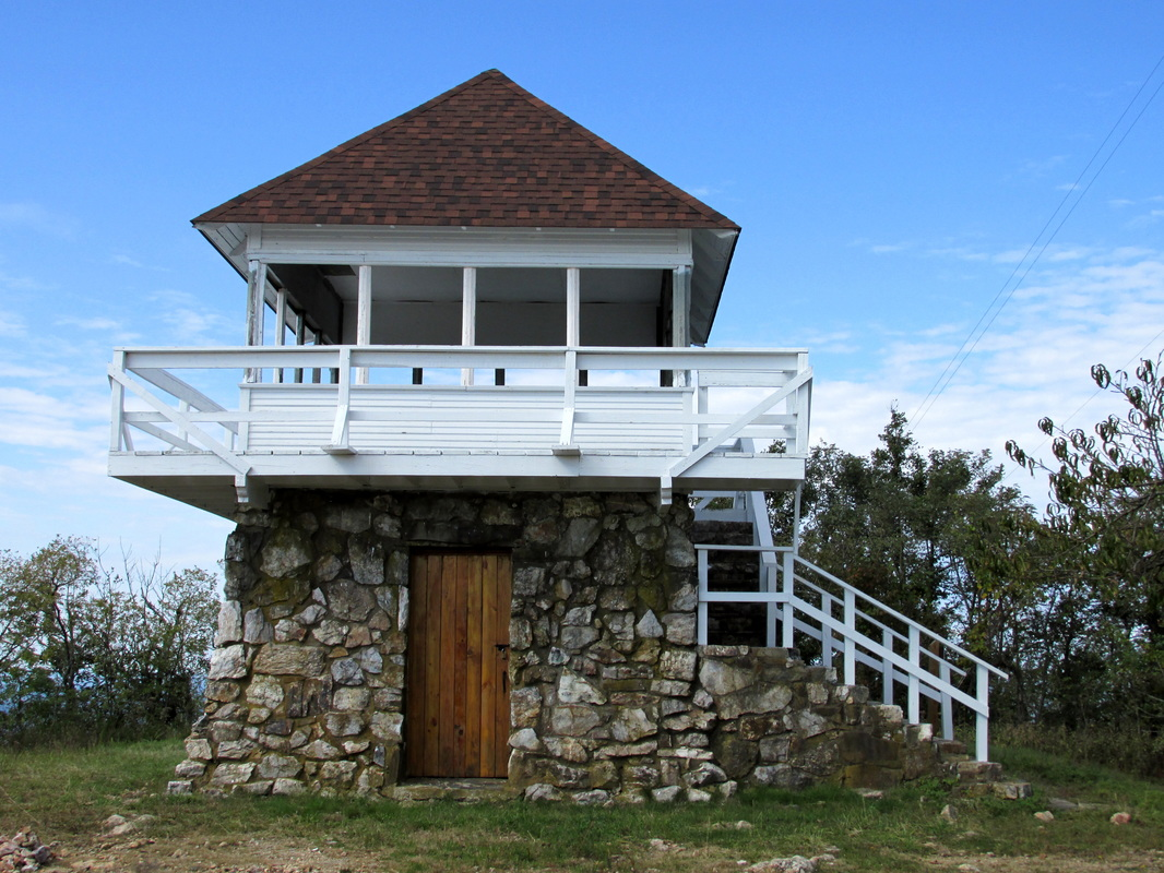 Tall Peak Fire Tower in 2013 after restorations