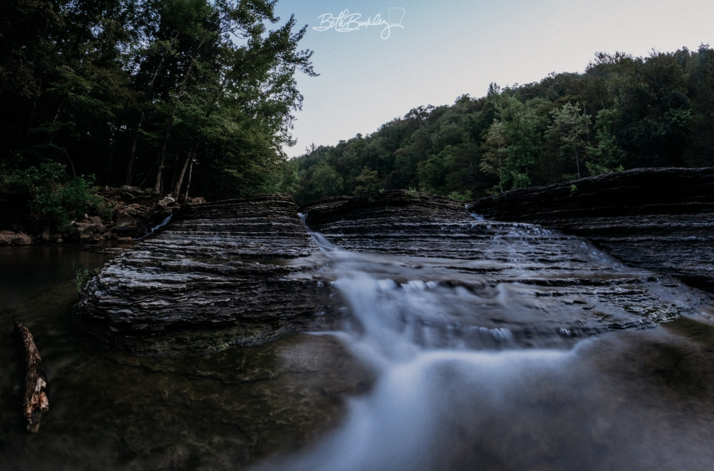 Six Finger Falls in Arkansas with wide angle lens