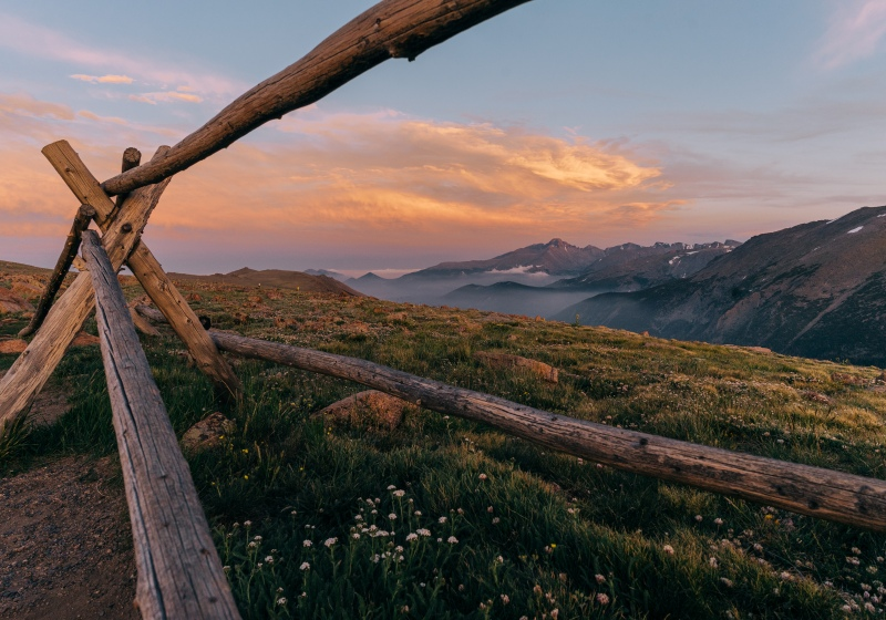 Sunset in July on Trail Ridge Road in Colorado